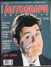 Jay Leno Signed June 2001 Autograph Magazine Personalized Auto