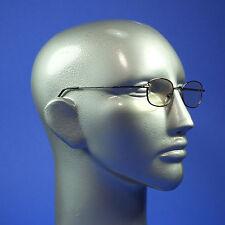 Computer Reading Glasses Lightweight Pewter Metal Frame Aspheric Lens +1.00