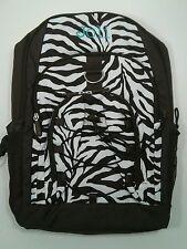 Pottery Barn PB Teen Brown White Zebra Gear Up Large Backpack name JOLI New