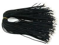 Al Por Mayor 10 Piezas Negro Piel De Ante Cuerda 59.7cm Cordones Para Collar