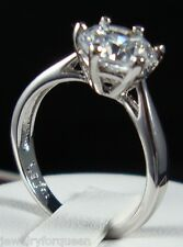 Solitaire Engagement Wedding Ring size9 Stunning1.5ctw Cz Cubic Zirconia Classic