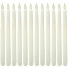 WYZworks LED-CANDLE-TAPER-11IN-12PK Taper Flameless LED Faux Wax Candle Lights - 12 Pack