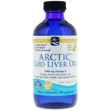 Nordic Natural Arctic Cod Liver Oil, 1060 mg Lemon 237 ml, Omega 3, Vitamin A