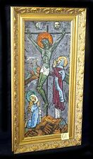 "'60s Hawaii Oil Painting ""Christ on the Cross"" by Erica Karawina (1904-89) (New)"