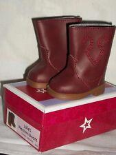 American Girl Julie's Western Boots Doll w Shoe Box Brown Julie Cowboy Riding