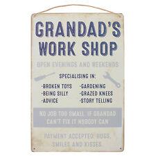 Grandad's Work Shop Hanging Plaque Metal Signs (Free Post !)