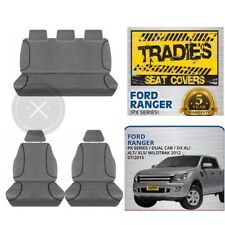 SEAT COVERS Ford Ranger PX Series, Wildtrak, DX XL, XLT, XLS 2012-CURRENT
