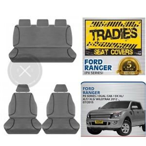 SEAT COVERS Ford Ranger PX Series, Wildtrak, DX XL, XLT, XLS 2012-CURRENT
