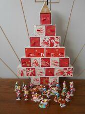 MINI CERAMIC CHRISTMAS TREE DECORATION ADVENT CALENDAR vintage, 24 drawers PAUL