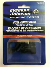 """NEW 0775641 Evinrude or Johnson Fuel line end connector 3//8/"""" ID OF HOSE x 2"""