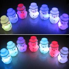 Nouveau Chaud LED Eclairage Bonhomme De Neige Lumières Coloré Noël Fêtes Décor