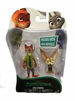 Nick Wilde & Finnick Action Figures Dal Film Zootropolis Nuovo in Box Disney