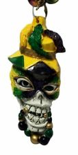 Skull Purple Green Gold Mardi Gras Beads Necklace Party Favor