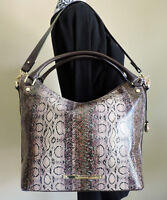 Brahmin Norah Violet Cusco Snake Embossed Leather Hand Shoulder Bag Hobo NWT