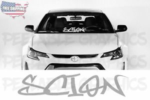 Scion Graffiti Style #1 Windshield Banner Decal Sticker Graphic frs tc xb