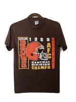 Vintage Cleveland Crewneck Tshirt 1989 Division Champs Men's Size M Trench