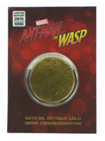 Ant-Man & The Wasp Antique Gold Coin 38mm Commemorative Marvel Limited Edition