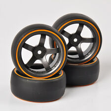 4X Double Color Drift Tyre Tires&Wheel For HSP HPI 1:10 On-Road Racing Car