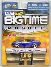 JADA TOYS DUB CITY BIGTIME MUSCLE '70 PLYMOUTH CUDA CLTR 024 BLUE