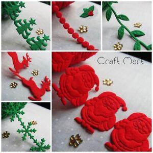 Felt Trim Ribbon Style Christmas Craft sewinig decor Xmas craft gifts scrapbok