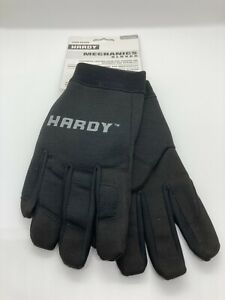 HARDY Black High Dexterity Gloves, Synthetic Leather Palm/Spandex Size Medium