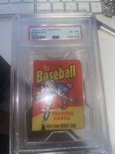1975 Topps Baseball Mini Wax Pack PSA 6 EXMT