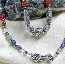 Runde Echte Edelstein-Halsketten & -Anhänger im Collier-Stil mit Amethyst