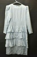 Vintage Argenti Women's Size 10 100% Pure Silk Long Sleeve Spring/Summer Dress