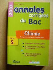 Livre Annales corrigées du bac chimie série S /A10