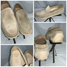 Ecco Driving Moccasins Shoes sz 12 EE Men Beige Leather India Mint YGI A0S-97