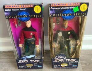 Lot of 2 1994 Star Trek Command Edition Jean Luc Picard & Benjamin Sisko