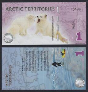 Artic Territories 1 polar dollar 2012 (Banconota di Fantasia) FDS/UNC  B-10