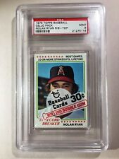 1978 Topps Baseball Cello Pack Nolan Ryan PSA 9 Wax