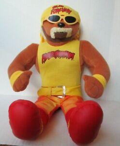 """HULK HOGAN HULKAMANIA TEDDY BEAR 17"""" PLUSH DOLL WWF WWE WCW NWO Wrestling PD37"""