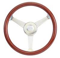 "15"" Mahogany Banjo Steering Wheel Vintage 1948 - 59 Chevy Truck w/Ididit Column"