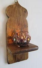 Style marocain mur appliques bougeoir & filigrane en or tea light holder