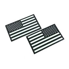Infrared IR US Flag Patch Forward & Reverse Army Navy USMC VELCRO® Brand 2 PACK
