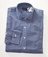 NWT Men's Ralph Lauren Casual Long-Sleeve Shirt, Navy Blue, White, XL, X-Large