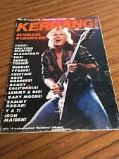 Kerrang Magazine No 23 Used Condition Iron Maiden Michael Schenker