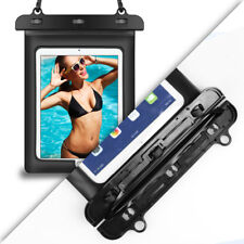 "Black Tablet Waterproof Underwater Pouch Dry Bag Case Cover For 10.2"" Apple iPad"