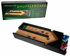 PARTY DRINKING GAME SHUFFLEBOARD WITH 2 SHOT GLASSES ADULT CRAZY NOVELTY GIFTS