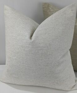 John Lewis Textured Twill Fabric Cushion Cover  Double Sided Natural