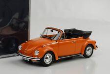 VW Käfer Beetle 1303 Volkswagen Cabriolet Cabrio orange 1:18 Norev Neu 188521