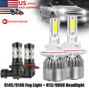 Combo LED for Ford F-150 2004-2014 Headlights and Fog Lights H13 9145 Pairs