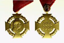 pcc2136_50)  Austria Croce di Guerra Battaglie 1848-1908 Francesco Giuseppe I