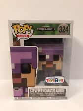 Funko POP! Games Toys R Us Exclusive MINECRAFT Steve in Enchanted Armor #324