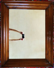 Edelholz 1m Wand Spiegel Bilder Gemälde Rahmen alt antik modern Haus Deko
