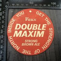 AUTHENTIC VINTAGE CARDBOARD BEER MAT COASTER DOUBLE VAUX MAXIM STRONG BROWN ALE