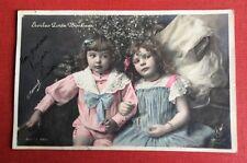 CPA. 1905. Enfants. Petit Couple. Étoiles Porte Bonheur. Phot. Manuel.