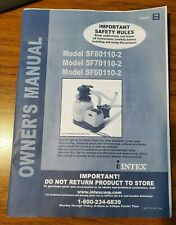 Intex manuale del proprietario per SF80110-2 SF70110-2 SF6011-2 per filtro a sabbia